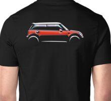 MINI, CAR, RED, BMW, BRITISH ICON, MOTORCAR, MOTOR SPORT Unisex T-Shirt