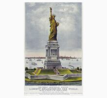Statue of Liberty, Enlightening the World, USA, New York, America, American One Piece - Short Sleeve