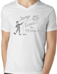 George Lassos the Moon Mens V-Neck T-Shirt