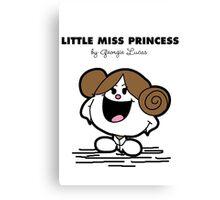 Little Miss Princess Canvas Print