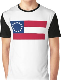 Stars & Bars, USA, America, First American National Flag, 13 stars, 1861 Graphic T-Shirt