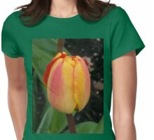 Orange and Yellow Tulip Womens Fitted T-Shirt