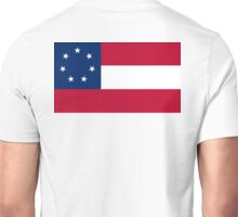Stars & Bars, USA, America, First, American, National Flag, 7 Stars, America,1861 Unisex T-Shirt