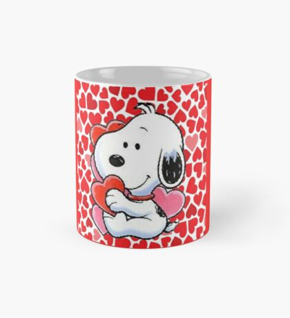 snoopy touching heart Mug