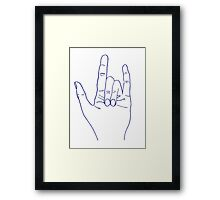 PUNK ROCK Framed Print