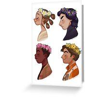 Flower crown set Greeting Card