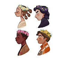 Flower crown set Photographic Print