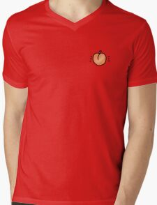 Peach Drawing Mens V-Neck T-Shirt