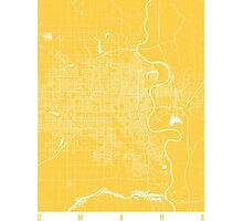 Omaha map yellow Photographic Print
