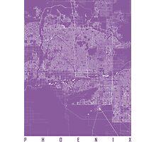 Phoenix map lilac Photographic Print