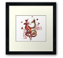 Dancing snakes Framed Print