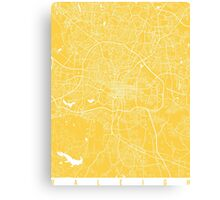Raleigh map yellow Canvas Print