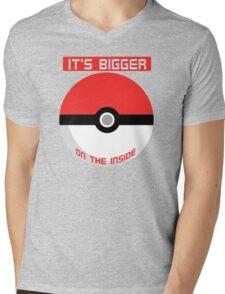 Pokemon - It's bigger on the inside.. Mens V-Neck T-Shirt