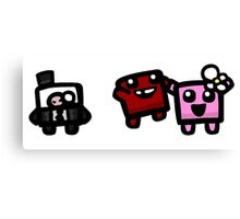 super meat boy Canvas Print