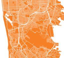 San Francisco map orange Sticker