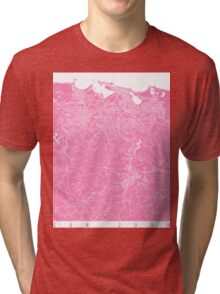 San Juan map pink Tri-blend T-Shirt