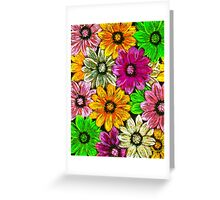 Flowers and Flowers Greeting Card