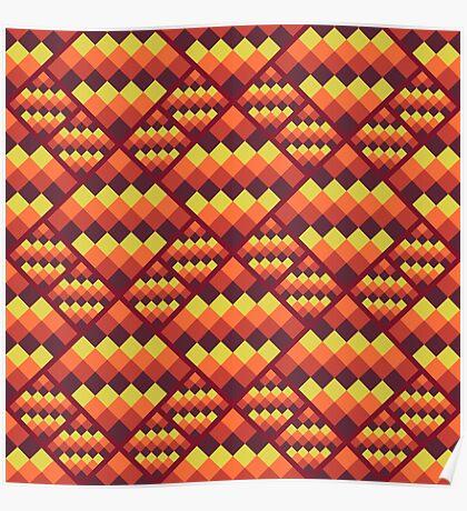 Seamless geometric pattern. Bright pixel design. Poster