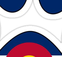 Colorado flag paw print Sticker