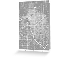 Tulsa map grey Greeting Card