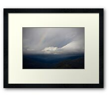 from grey to color Framed Print