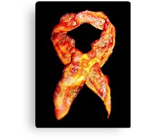 Bacon Awareness Ribbon . . . Never Forget Bacon Canvas Print
