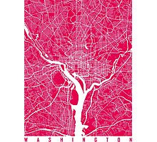 Washington map Raspberry Photographic Print
