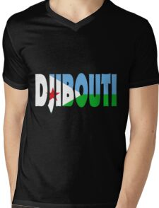 Djibouti Mens V-Neck T-Shirt