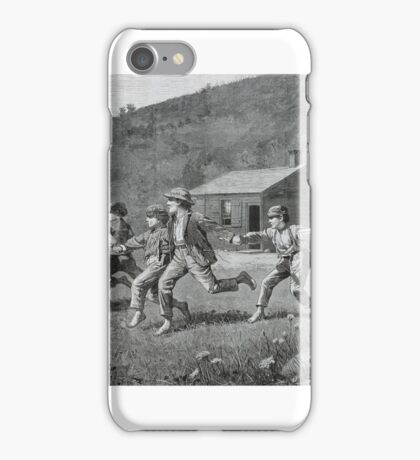 Winslow Homer,  SNAP-THE-WHIP, FROM HARPER'S WEEKLY, SEPTEMBER  iPhone Case/Skin