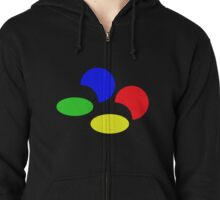 Super Nintendo SNES four colors quadcolor Zipped Hoodie