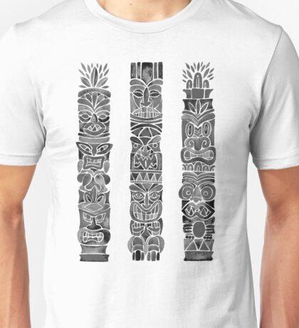 Tiki Totem – Black Unisex T-Shirt
