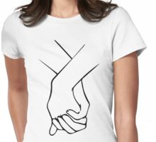 HOLDING HANDS 2 Womens Fitted T-Shirt