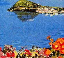 Italy Bellagio Lake Como vintage Italian travel advert Sticker