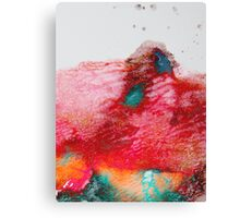 Abstract Painting Red & Gold Canvas Print