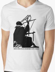 Galileo Galilei - Where senses fail us Mens V-Neck T-Shirt