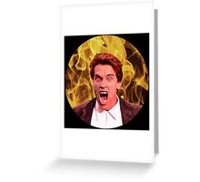 Angry Arnold Greeting Card