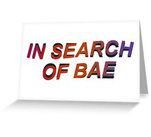 IN SEARCH OF BAE Greeting Card