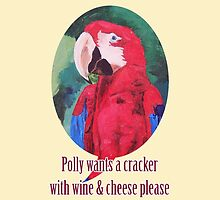 Polly Wants A Cracker With Wine And Cheese Please ? - iPhone iPod & iPad Tablet Covers by PhoneCase