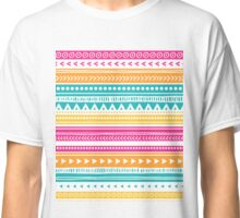 Colorful tribal pattern orange, pink, teal, yellow Classic T-Shirt