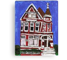 Red Victorian in Pacific Heights(San Francisco) Canvas Print