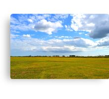 Empty Field Canvas Print