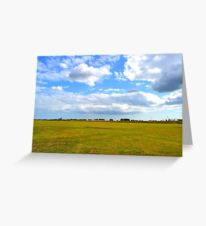 Empty Field Greeting Card