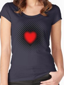 Pulsating Heart Women's Fitted Scoop T-Shirt