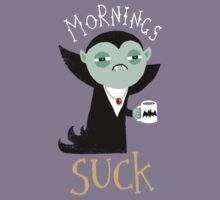 Mornings Suck Kids Tee