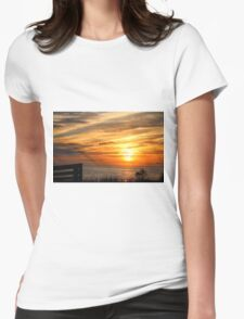 Sunset Over The Sea Womens Fitted T-Shirt