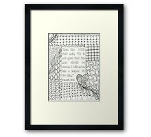 Zentangle-Genesis 2:18 Framed Print