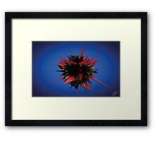 Shard Series 1 - Red/Black Framed Print