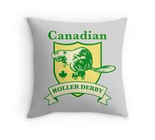 Canadian Roller Derby Throw Pillow