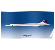 British Airways Concorde 1984 to 1997 Poster