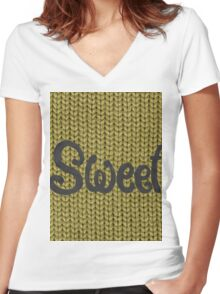 sweet green  Women's Fitted V-Neck T-Shirt